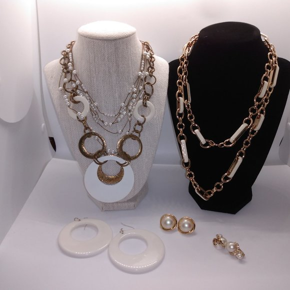 White and Gold Jewelry - Vintage